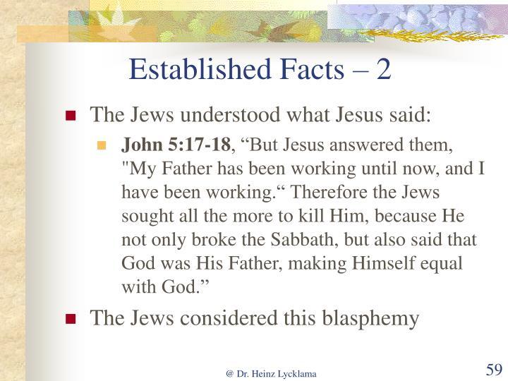 Established Facts – 2