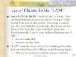jesus claims to be i am