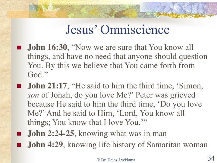 Jesus' Omniscience