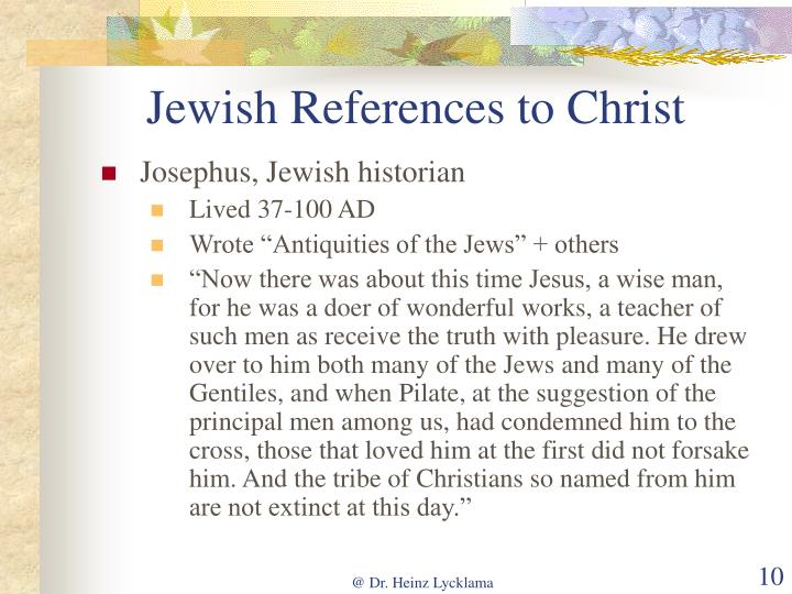 Jewish References to Christ