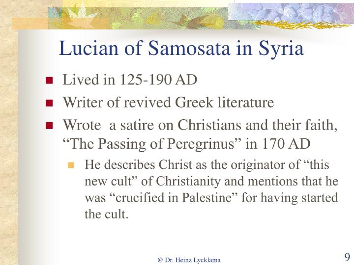 Lucian of Samosata in Syria