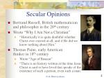 secular opinions
