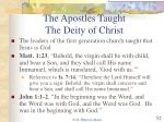 the apostles taught the deity of christ