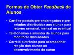 formas de obter feedback de alunos