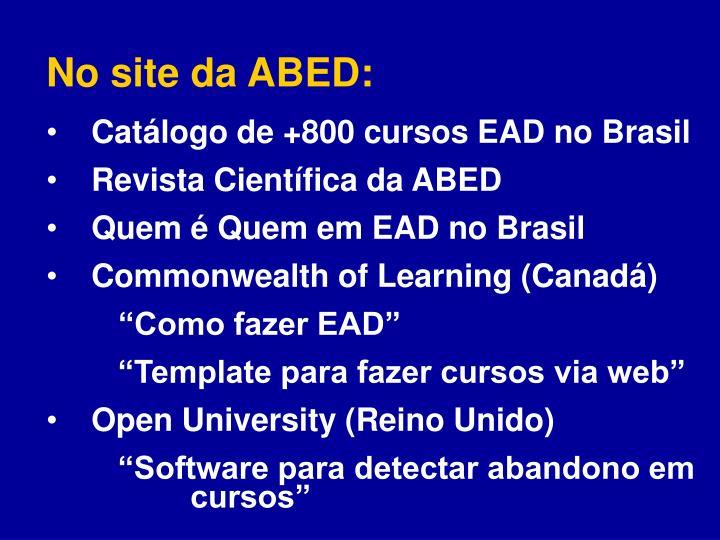 No site da ABED: