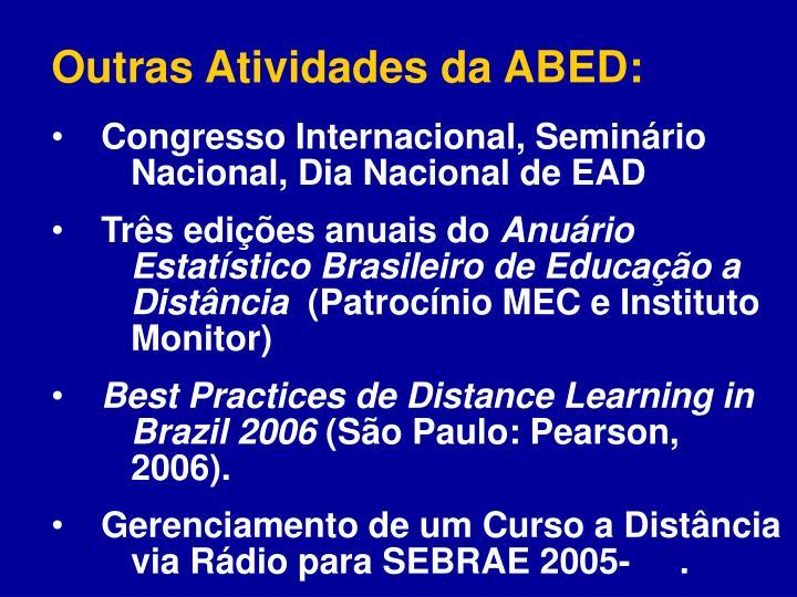 Outras Atividades da ABED: