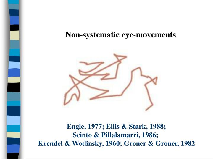 Non-systematic eye-movements