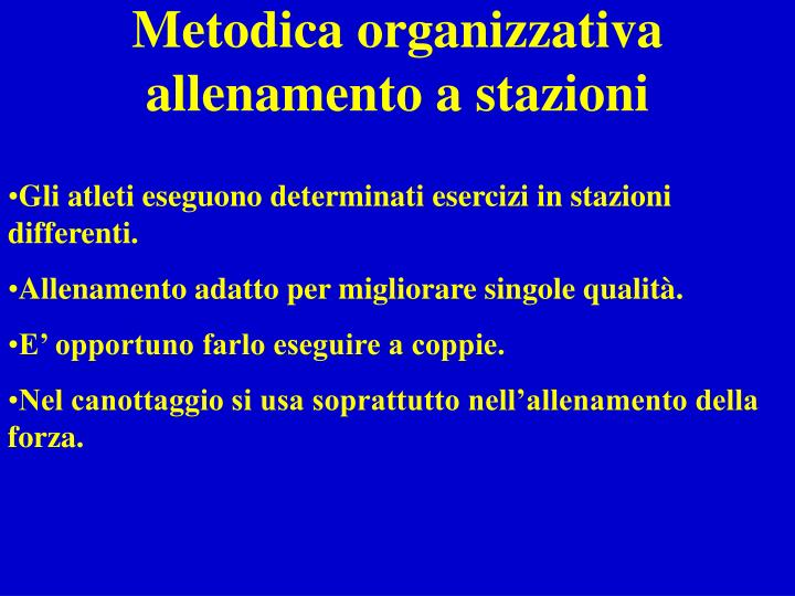 Metodica organizzativa