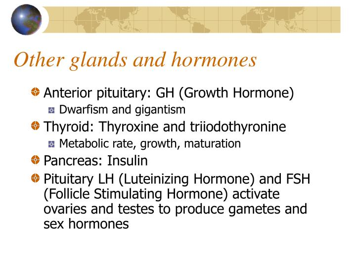 Other glands and hormones