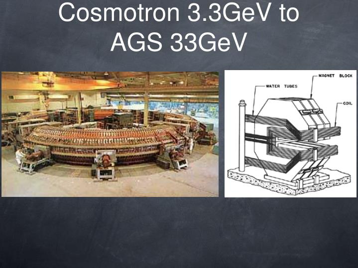 Cosmotron 3.3GeV to AGS 33GeV