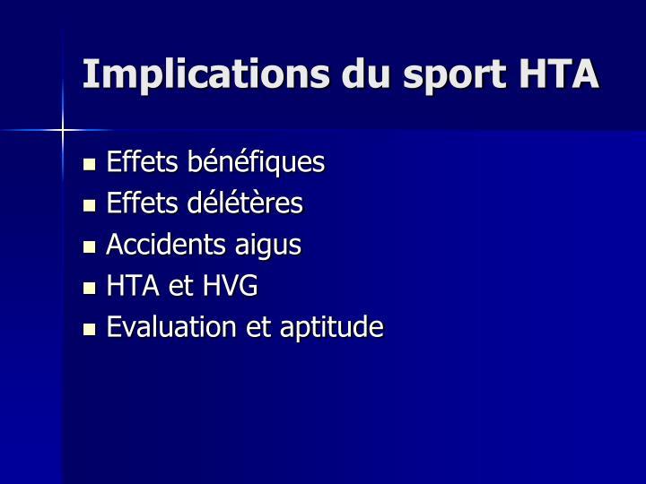 Implications du sport HTA