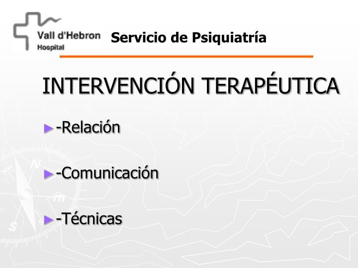 INTERVENCIÓN TERAPÉUTICA