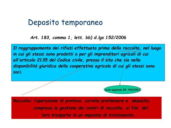 Deposito temporaneo