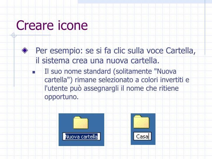 Creare icone