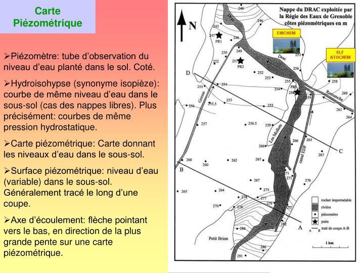 Carte Piézométrique