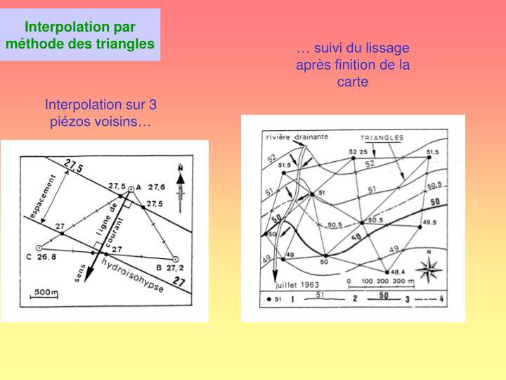 Interpolation par méthode des triangles