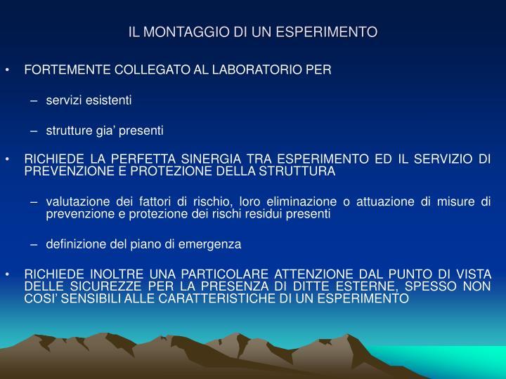 FORTEMENTE COLLEGATO AL LABORATORIO PER