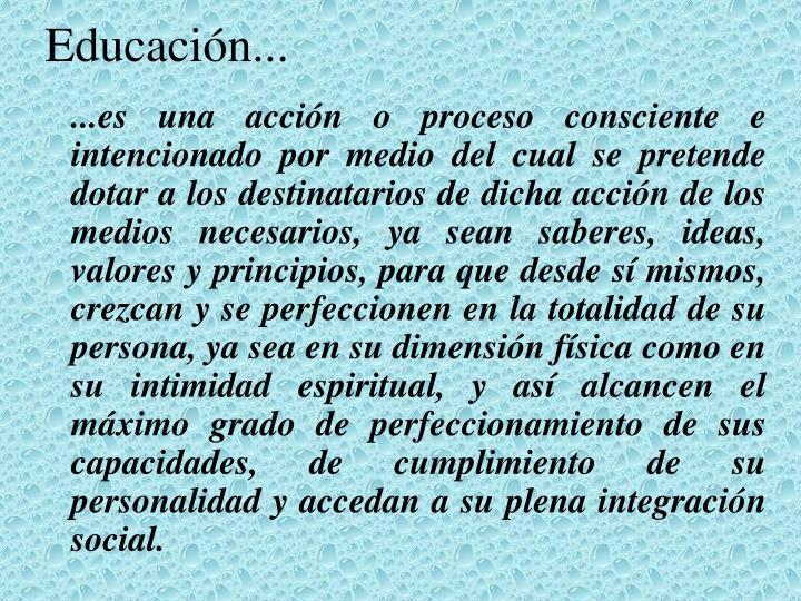Educación...