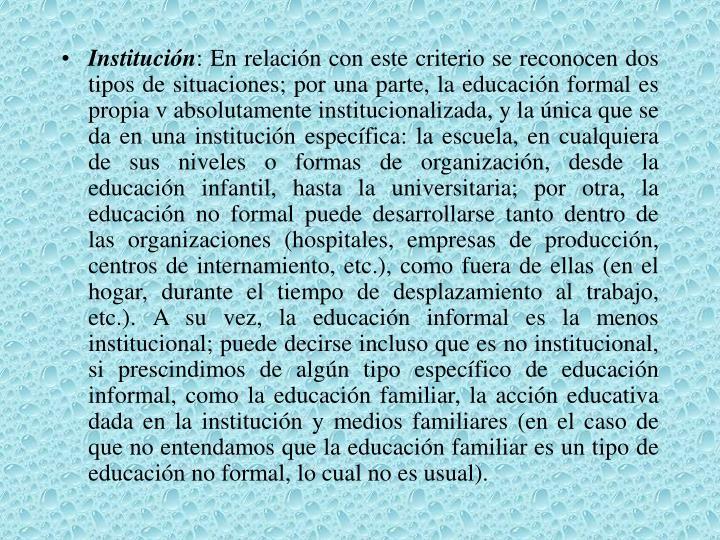 Institución