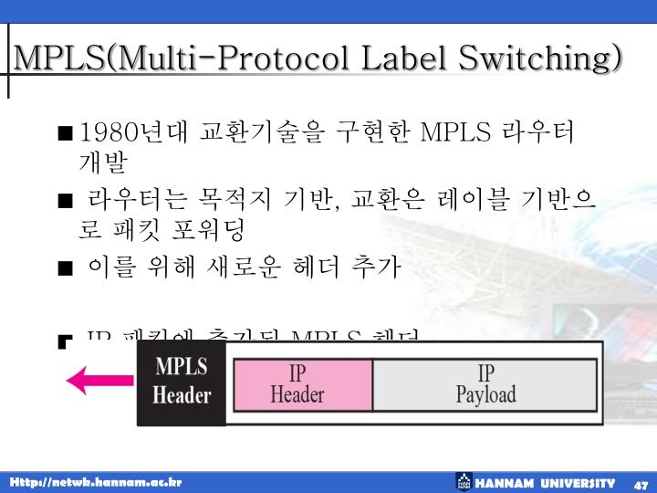 MPLS(Multi-Protocol Label Switching)