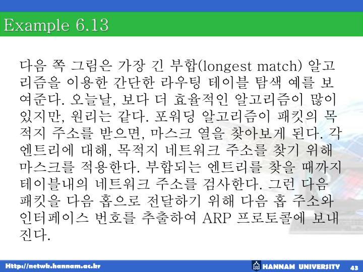 Example 6.13