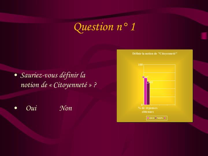 Question n° 1