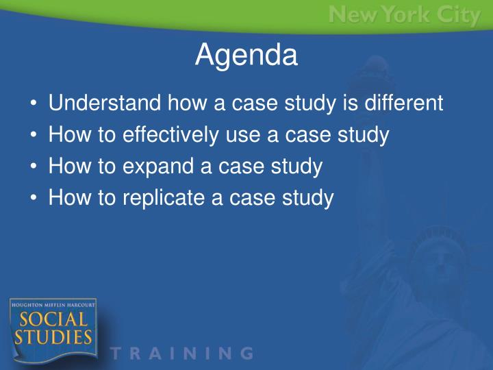 Understand how a case study is different