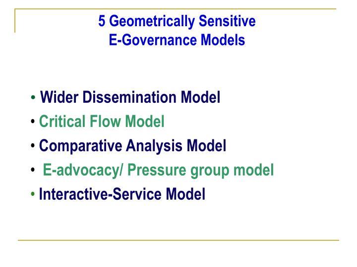 5 Geometrically Sensitive