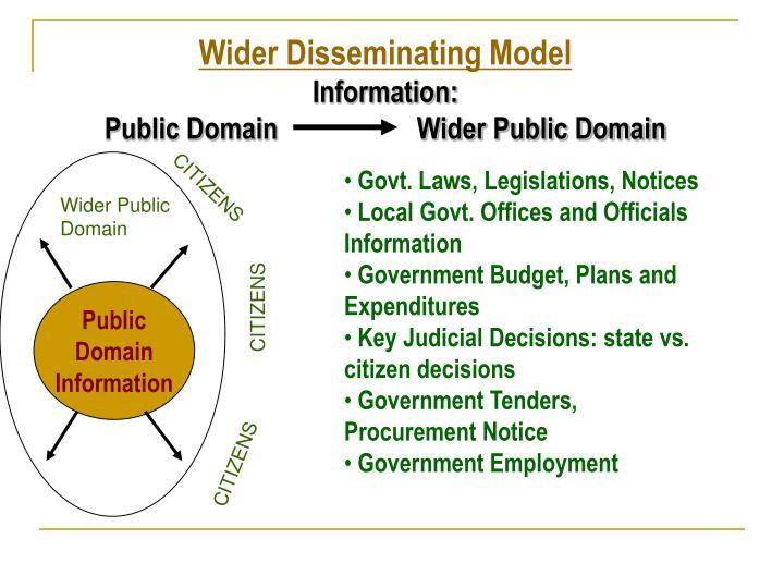 Wider Disseminating Model