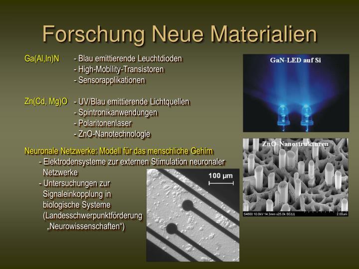 Forschung Neue Materialien