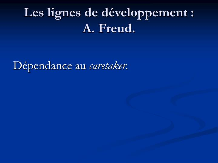 Les lignes de développement :