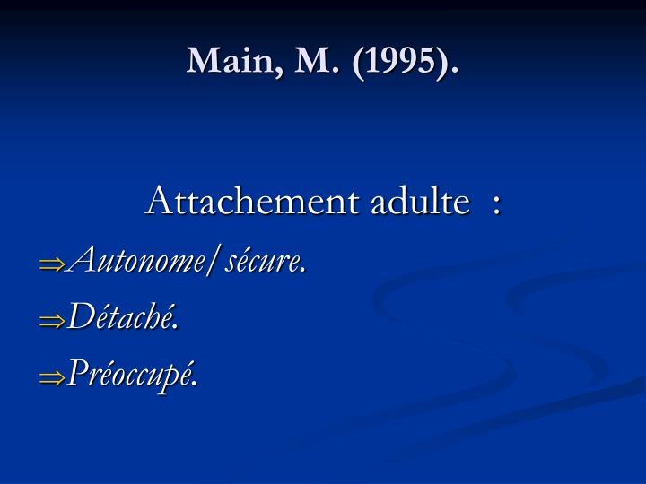 Main, M. (1995).