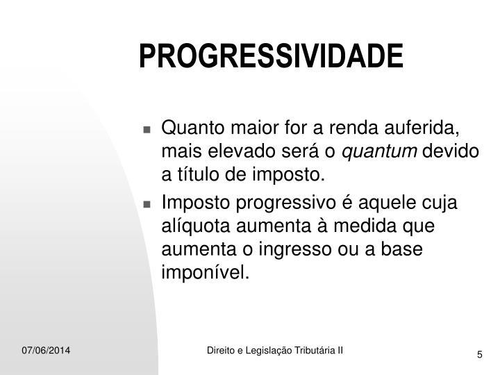 PROGRESSIVIDADE