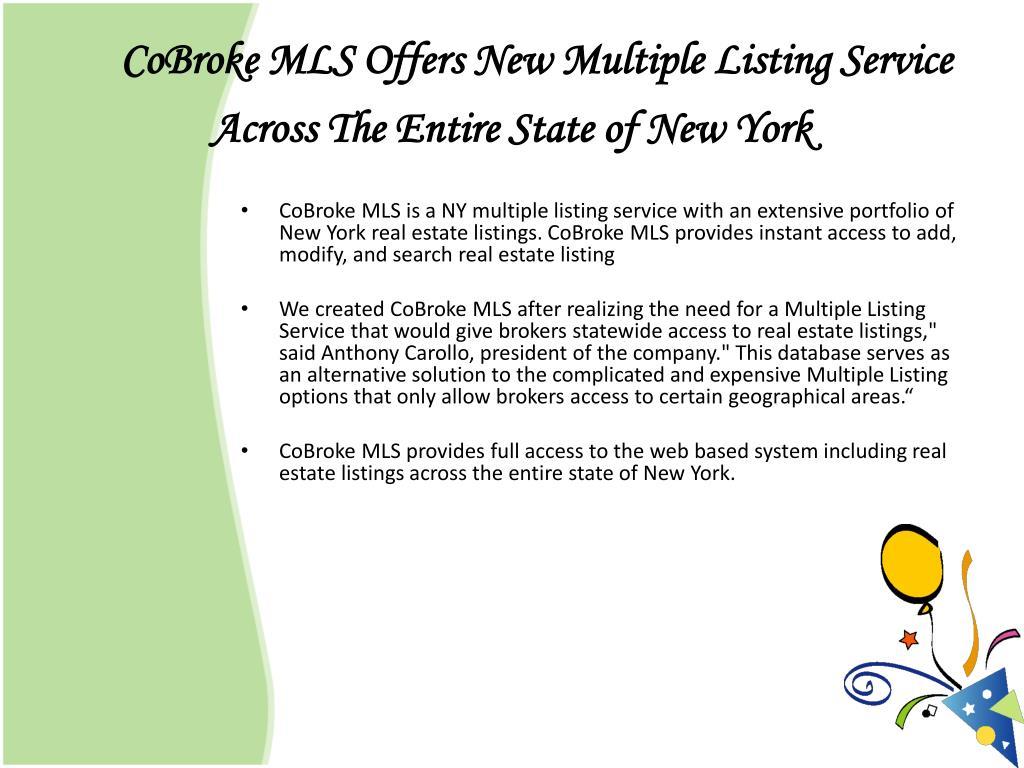 CoBroke MLS Offers New Multiple Listing Service