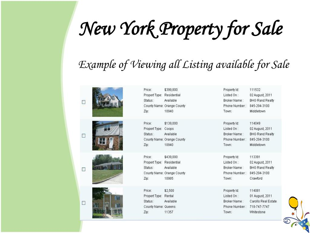 New York Property for Sale