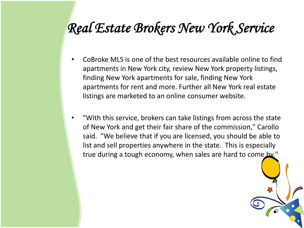 Real Estate Brokers New York Service