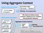 using aggregate context