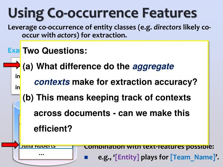 Using Co-occurrence Features