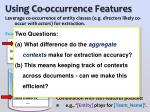 using co occurrence features