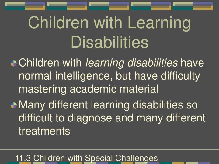 Children with Learning Disabilities