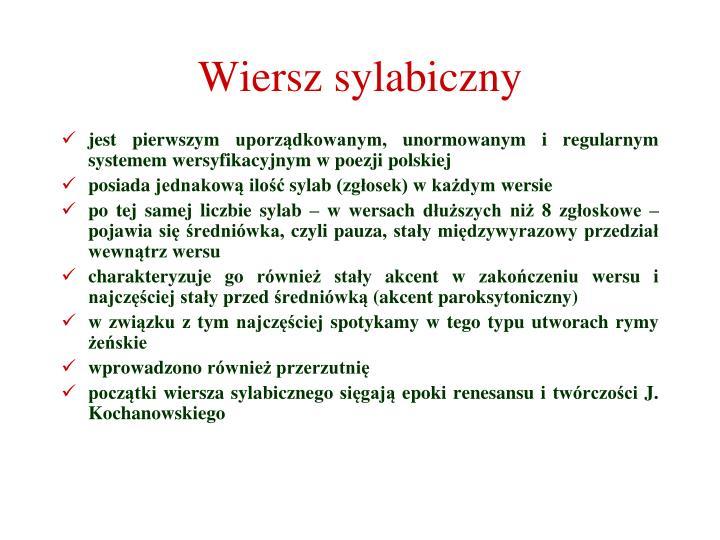 Wiersz sylabiczny