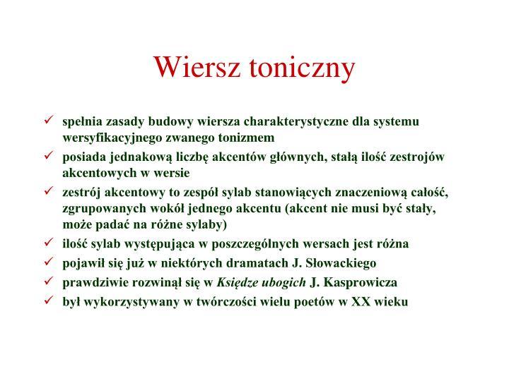Wiersz toniczny