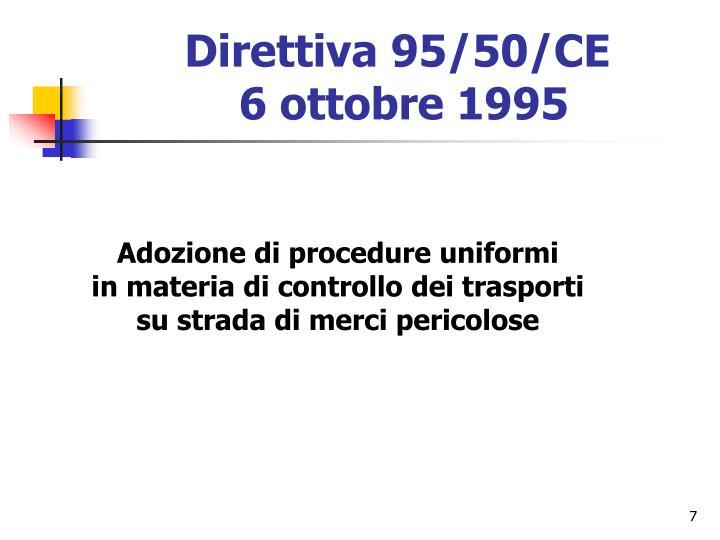 Direttiva 95/50/CE