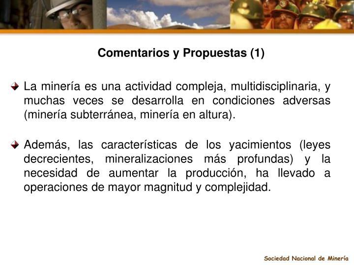Comentarios y Propuestas (1)