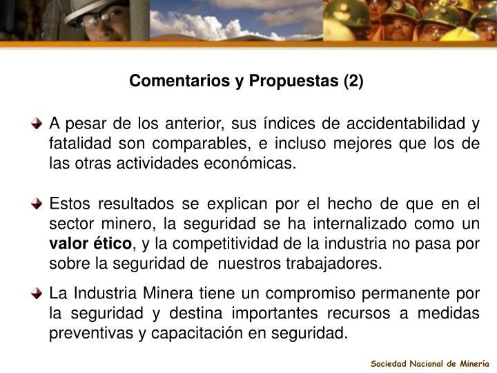 Comentarios y Propuestas (2)