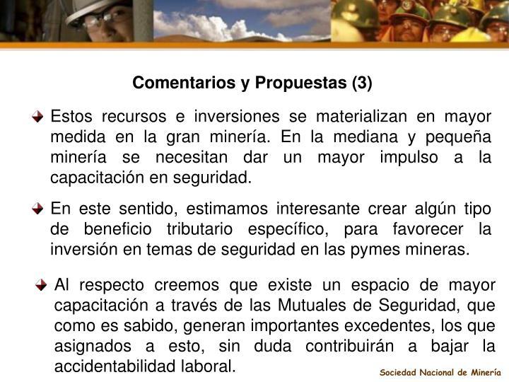 Comentarios y Propuestas (3)