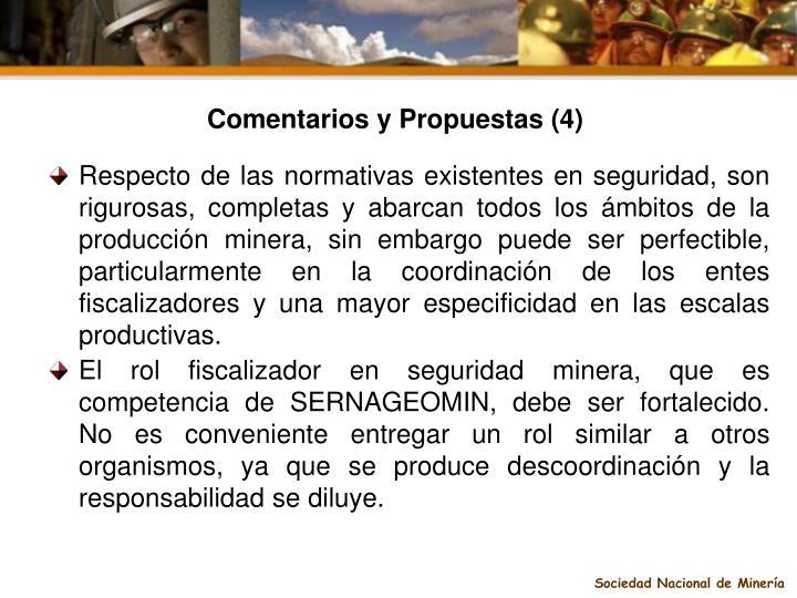 Comentarios y Propuestas (4)