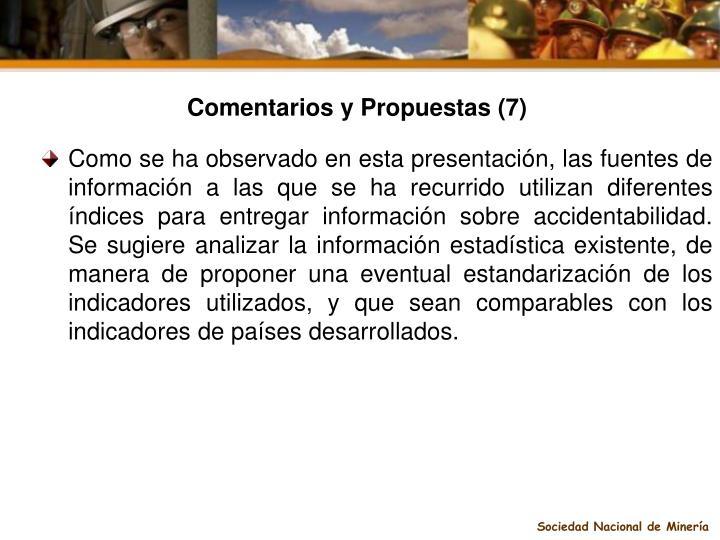 Comentarios y Propuestas (7)