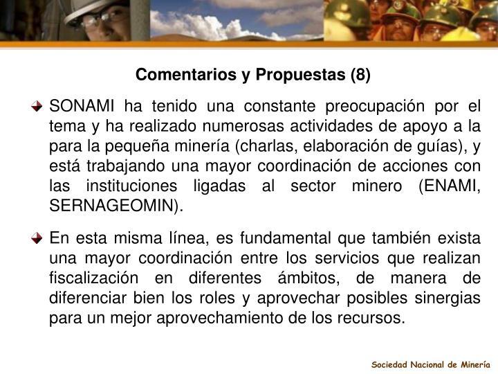 Comentarios y Propuestas (8)