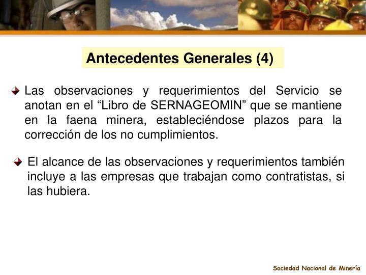 Antecedentes Generales (4)